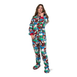Winter Fun Plush Onesie for Adults Unisex Hoodie
