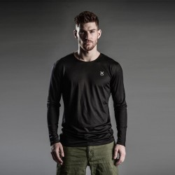 X-layer Men Black Full Sleeve T-Shirt
